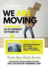 Moving Flyer Template Moving Announcement Flyer Template Postermywall