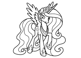 Small Picture My Little Pony Friendship Is Magic Princess Celestia Coloring