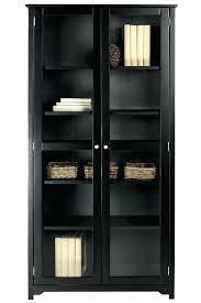 amusing glass door bookcase oxford 6 shelf with doors