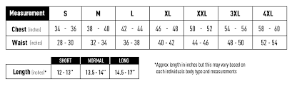Body Armor Sizing Guide