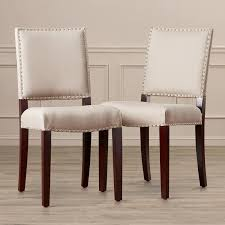 leather side chairs. Mcknight Bicast Leather Side Chairs In Cream A