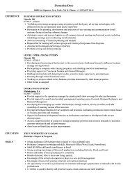 Resume Objective For Internship Operations Intern Resume Samples Velvet Jobs