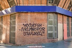 free realistic brick wall graffiti