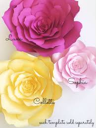 Paper Flower Printables New Paper Flower Templates Paperflora