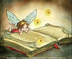 Trying to Become Wiser, 2008 © Ella Elviana, Artist, Bandung, Indonesia  http://EllasWorks.blogspot.com [Do not remo… | Fairy book, Book art, Book  illustration
