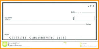 Blank Cheque Template Delectable Check Template Blank Check Template Free Word Blank Business Check