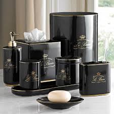 black bathroom accessories. Exellent Black Le Bain Black U0026 Gold Porcelain Bathroom Accessories Throughout M