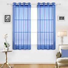 Office curtains Sliding Image Unavailable Amazoncom Amazoncom Deconovo Sheer Curtains Grommet Curtains Sheer Drapes