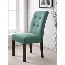 4 on tufted aqua textured parson chairs for dining room furniture ideas