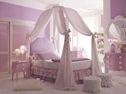 Princess Girls Bedroom Princess Canopy Beds For Girls Bedroom With Purple Color Paint