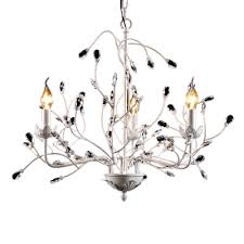 french country chandelier 3 light flower leaves chandelier candle style white chandelier light