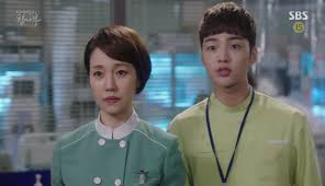 you re not seeing double kim min jae is in both goblin and doctor in doctor r tic he is a reliable and caring nurse who despite looking young tends to be calm and skillful