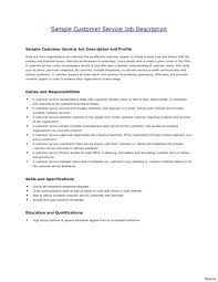 Resume Description Examples Customer Service Resume Description Examples Job Bank Vesochieuxo 24
