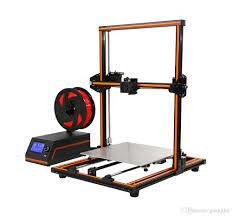 anet 3d printer aluminum frame high precision desktop high precision diy kit self assembly support abs pla hip filament 300x300x400mm e12 3d printing 3d
