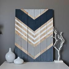 modern chevron wood wall art sign