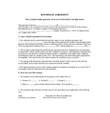 Agreement In Word Extraordinary Roommate Contract Template Agreement Word Free Document Download