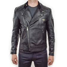 lewis leathers super monza black leather jacket urban rider armoured edition main