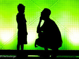 photo essay shadow play at hong kong s space museum father and son silhouette