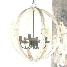 distressed white wood orb chandelier lighting shabby cottage chic very large porcelain