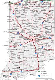 map of indiana cities indiana road map