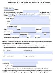 Free Alabama Boat Bill Of Sale Form | Pdf | Word (.doc)
