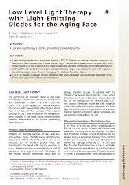 Red Light Therapy Pros And Cons Pdf Low Level Light Therapy With Light Emitting Diodes For