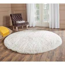 round area rug south beach snow white 6 ft x 6 ft round area rug