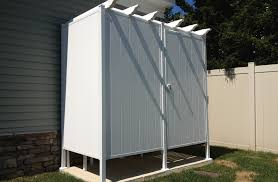 back to outdoor shower stall modern