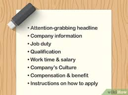 Samples Of Job Descriptions 4 Ways To Write An Effective Job Description Wikihow