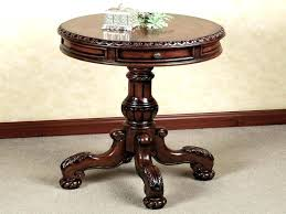 full size of distressed round black pedestal accent table silver kitchen extraordinary and ch