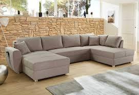Wohnlandschaft U Form Sofa Mit Bettkasten Couch