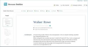Create A Free Resume Online And Save Awesome Resume Builder Linkedin
