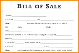 Simple Bill Of Sale For Car Template Bill Of Sale Form Mobile Home Middlearth Co