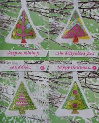 Christmas Tree Cross Stitch Chart Christmas Tree Ornaments Cards Seven Cross Stitch Charts