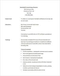 Cosmetology Resume Examples Gorgeous Cosmetology Resume Sample As Cosmetology Resume Samples