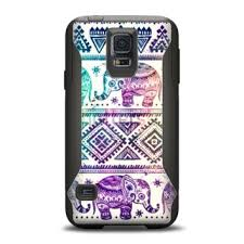 samsung galaxy s5 girly phone cases. the tie-dyed aztec elephant pattern samsung galaxy s5 otterbox commuter case skin set girly phone cases