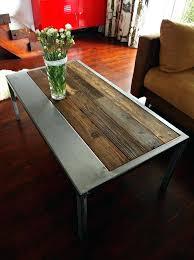 metal and wood coffee table handmade rustic reclaimed wood steel coffee table vintage round wooden metal