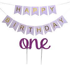 Purple Happy Birthday Banner Lovely Biton Tm Large Purple Happy Birthday Wall Banner With 1st