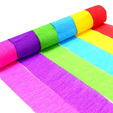 crepe paper streamers decorative tissue paper roll eholder 6 colors for festival birthday
