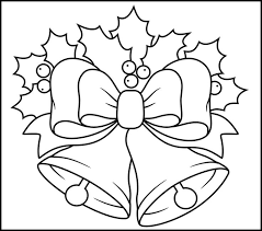 Christmas Bells Coloring Pages Bell Clipart Christmas Coloring