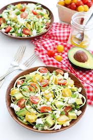 summer zucchini noodle salad recipe