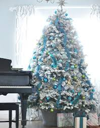 Remarkable White Christmas Tree With Blue Decorations 59 About Remodel Home  Remodel Ideas with White Christmas Tree With Blue Decorations