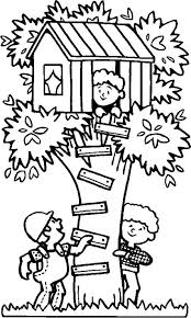 Spending Summertime In Tree House Coloring Page Download Print