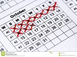 Pregnacy Clander Pregnancy Calendar Macro View Precise Calendar Stock Photo Image