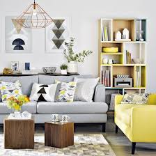 gray and yellow furniture. A Light Grey Sofa With Bright Yellow Chair In The Same Style Gray And Furniture