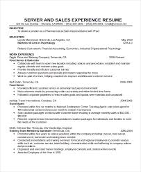 Waitress Resume Extraordinary Waitress Resume Template 60 Free Word PDF Document Downloads