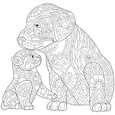 color pages dogs. Wonderful Color Puppy Printable Coloring Pages Adult Puppies Easy  Mandala And Kitten   Inside Color Pages Dogs