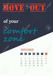 Vector Illustration Of Motivation Quotes Calendar For Design