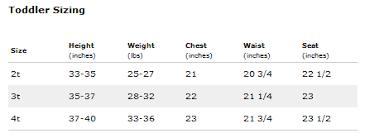 Nannette Baby Clothing Size Chart Size Chart Nannette