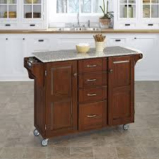 Granite Top Kitchen Cart August Grove Adelle A Cart Kitchen Island With Granite Top